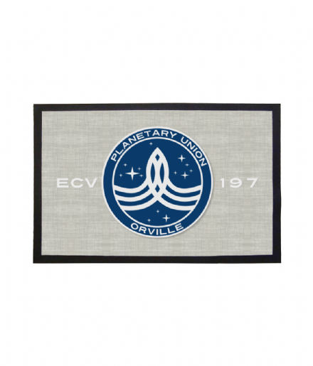The USS Orville ECV-197 Crest Doormat Printed Welcome Mat